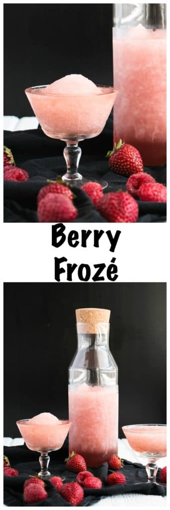 Frosé - Frozen Berry Rosé | My Kitchen Love. The ultimate adult wine slushy.