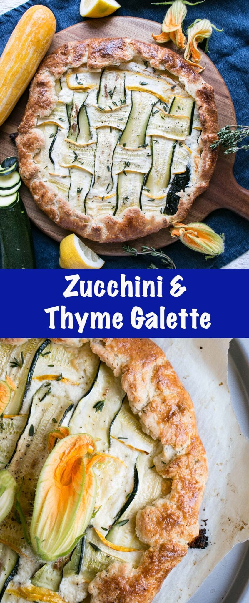Zucchini Galette long collage