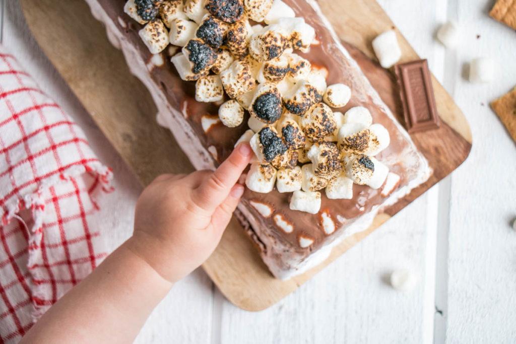 S'mores Ice Box Cake | My Kitchen Love