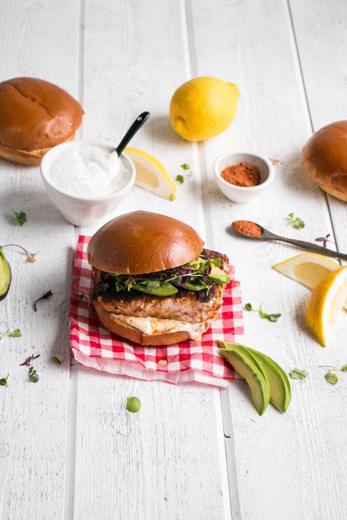 Blackened Harissa Halibut Burger   My Kitchen Love