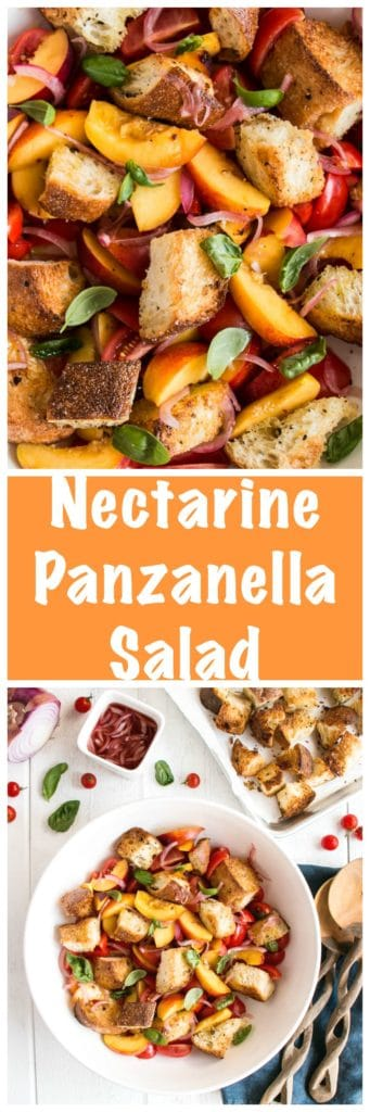 panzanella salad with homemade croutons
