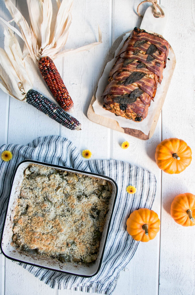 Essential Thanksgiving Side Dishes | My Kitchen Love. It doesn't get more traditional than Brussels Sprouts and Stuffing for Thanksgiving.