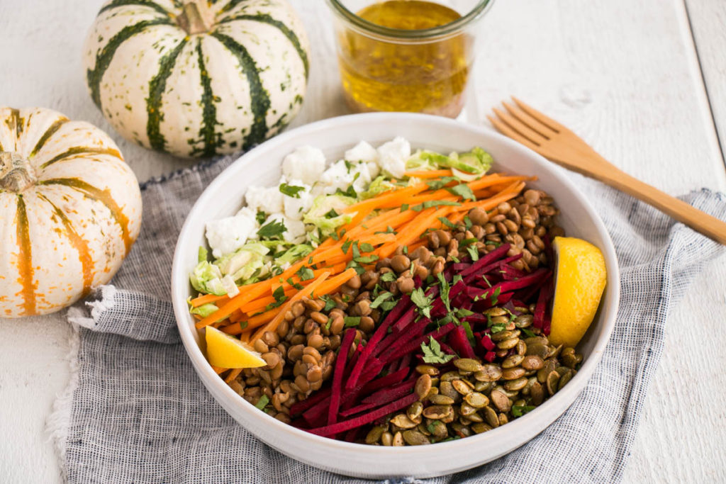 Fall Lentil Salad | My Kitchen Love