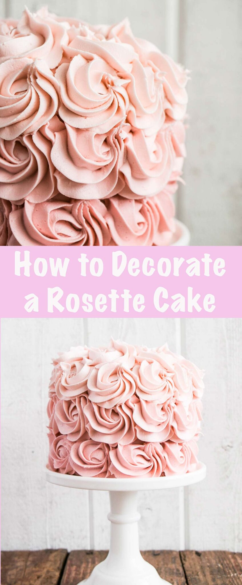 How to Make a Rosette Cake Pin