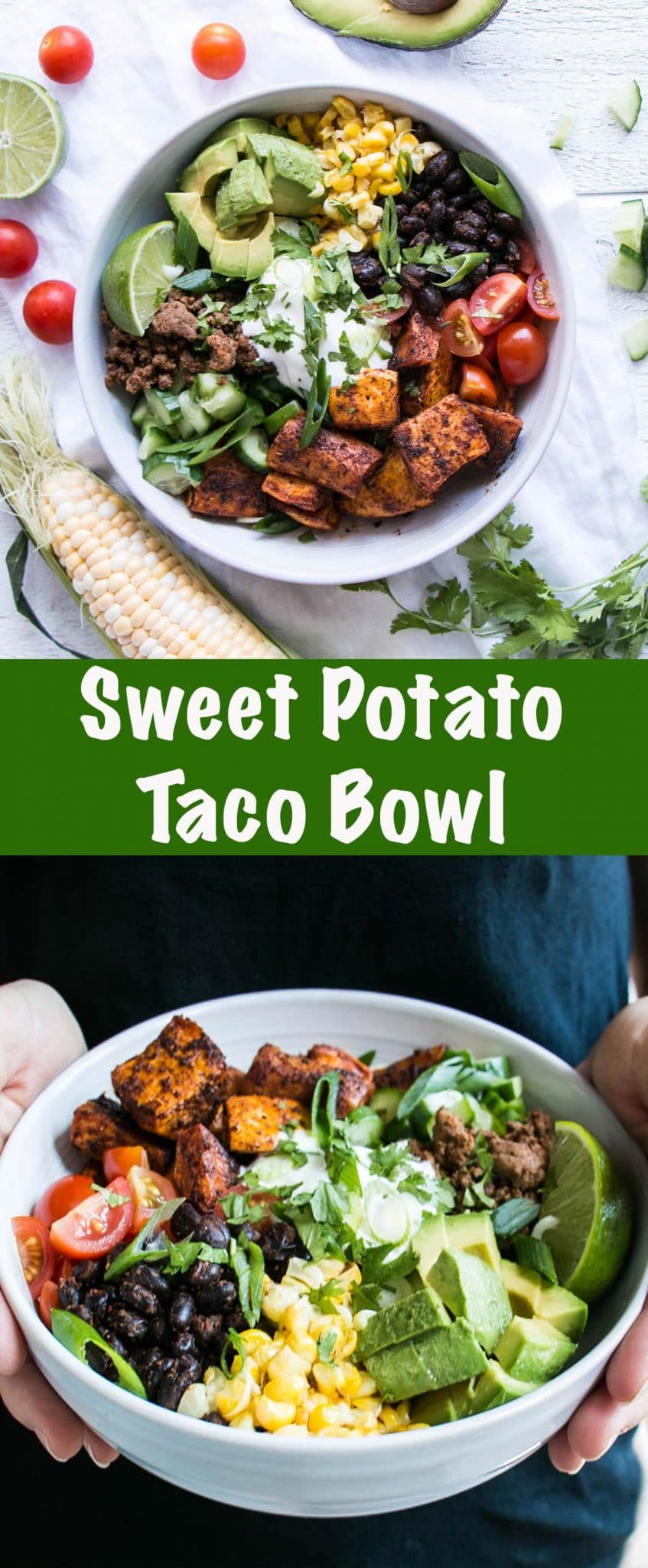 Sweet Potato Taco Bowl Long Pin