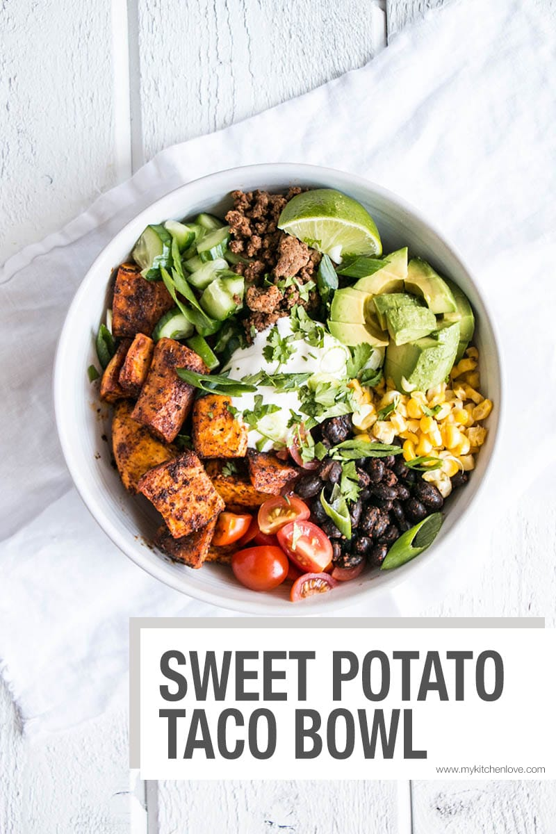 Sweet Potato Taco Bowl Short Pin
