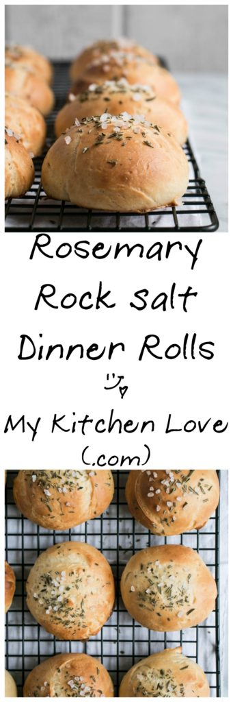 Rosemary Rock Salt Dinner Rolls | My Kitchen Love