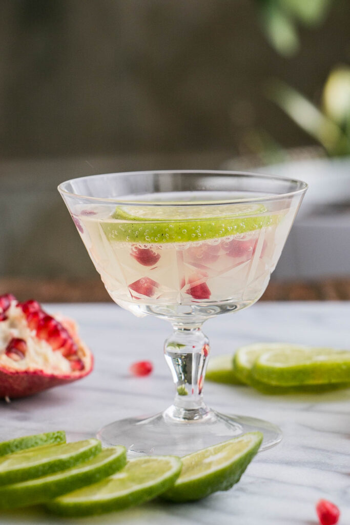 Pomegranate and Lime Gimlet | My Kitchen Love