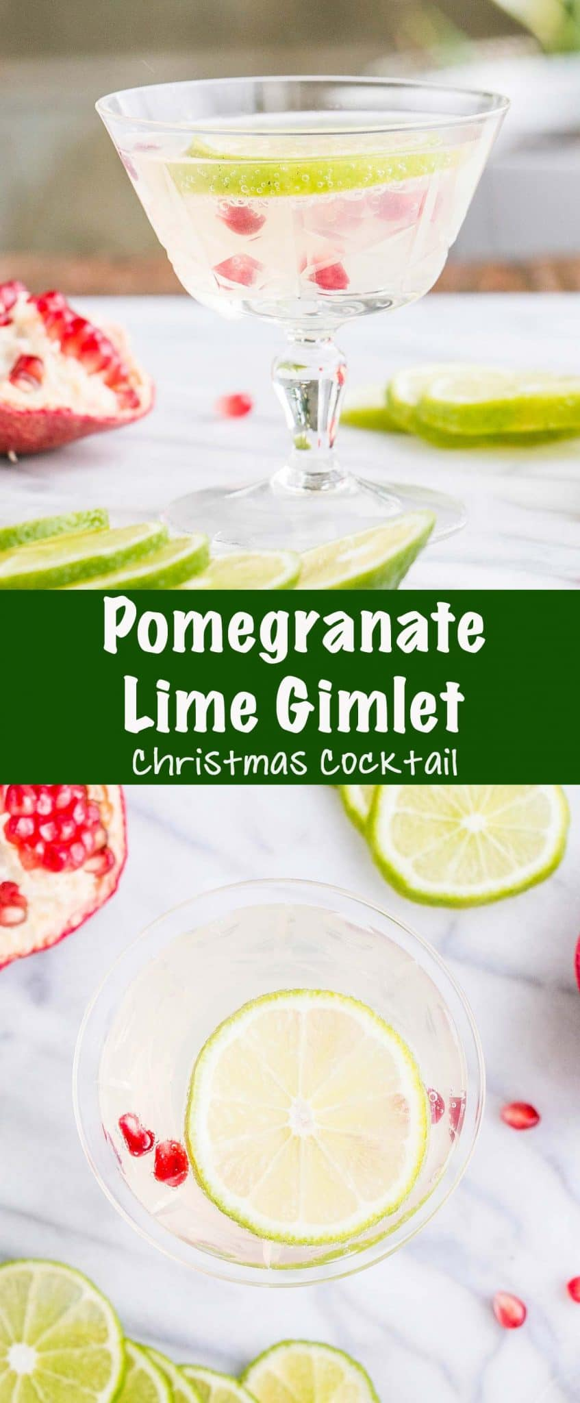 Pomegranate Lime Gimlet Long Pin