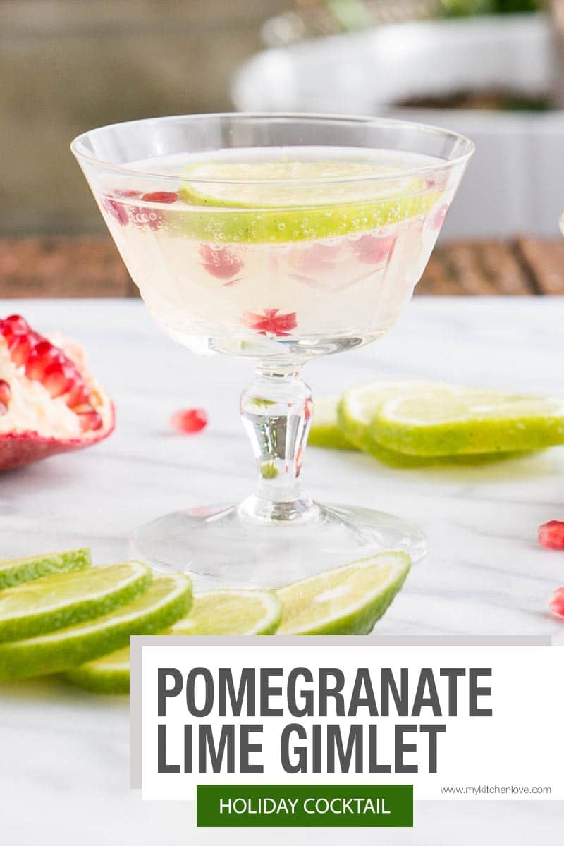 Pomegranate Lime Gimlet Short Pin