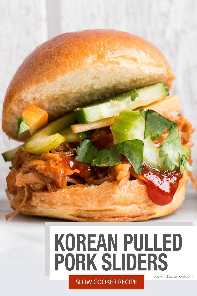 Slow Cooker Korean Pulled Pork Sliders