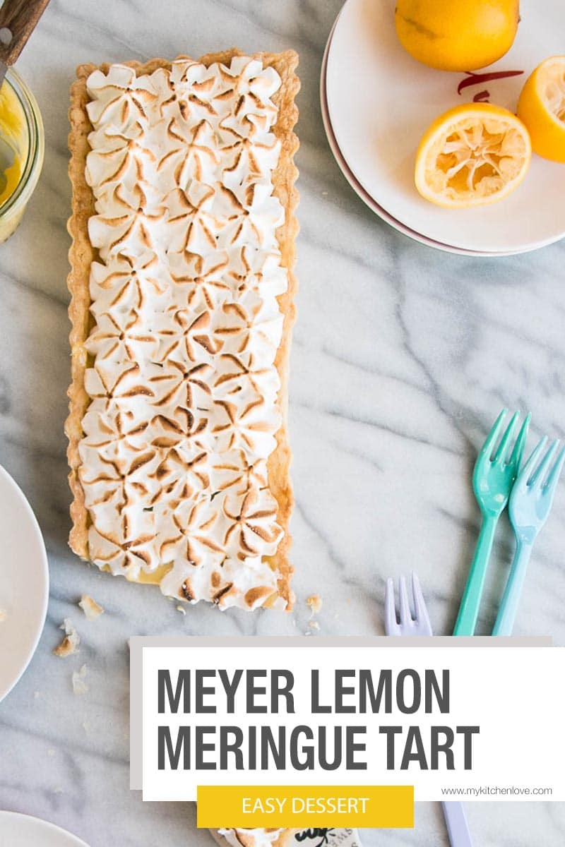 Easy Meyer Lemon Meringue Tart Short Pin