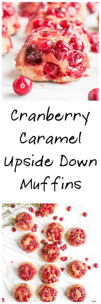 Cranberry Caramel Upside Down Muffins | My Kitchen Love