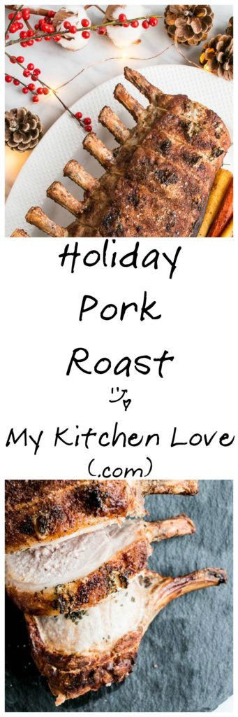 Holiday Rosemary Garlic Pork Roast | My Kitchen Love