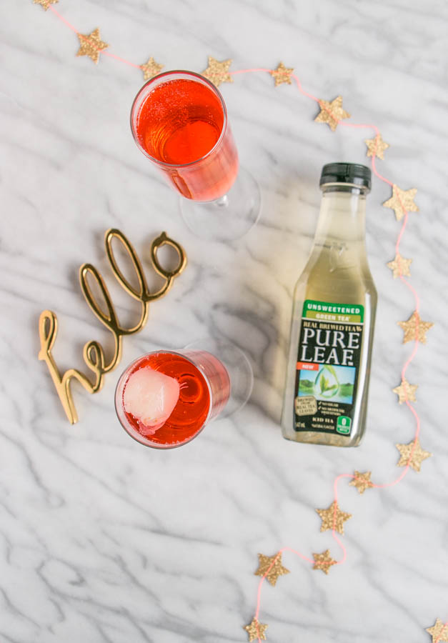 Lychee Green Tea Fizz | My Kitchen Love