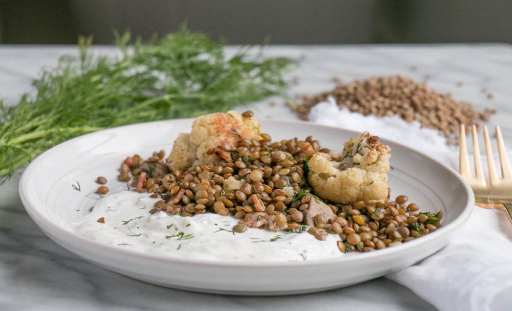 Dill Lentil and Cauliflower Salad | My Kitchen Love