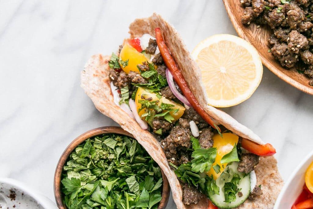 Lamb Salad Flatbread