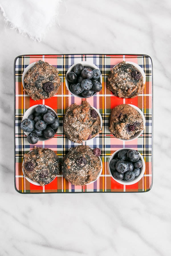 Mini Blueberry Buckwheat Muffins