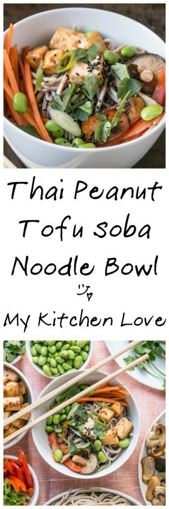 Peanut Tofu Noodle Bowl   My Kitchen Love