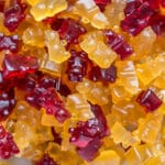 Healthier, refined sugar-free Gummy Bears!! Plus, a wine version for mom! #candy #gummybears #healthycandy #sugarfree
