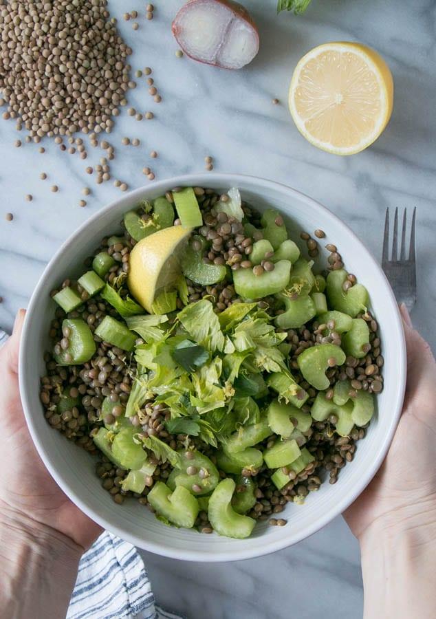 Celery Lentil Salad