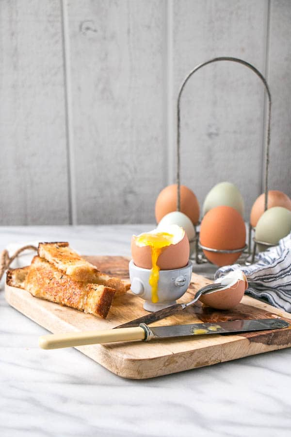 Perfect Soft-Boiled Eggs with Thyme and Parmesan Toast Soldiers | My Kitchen Love