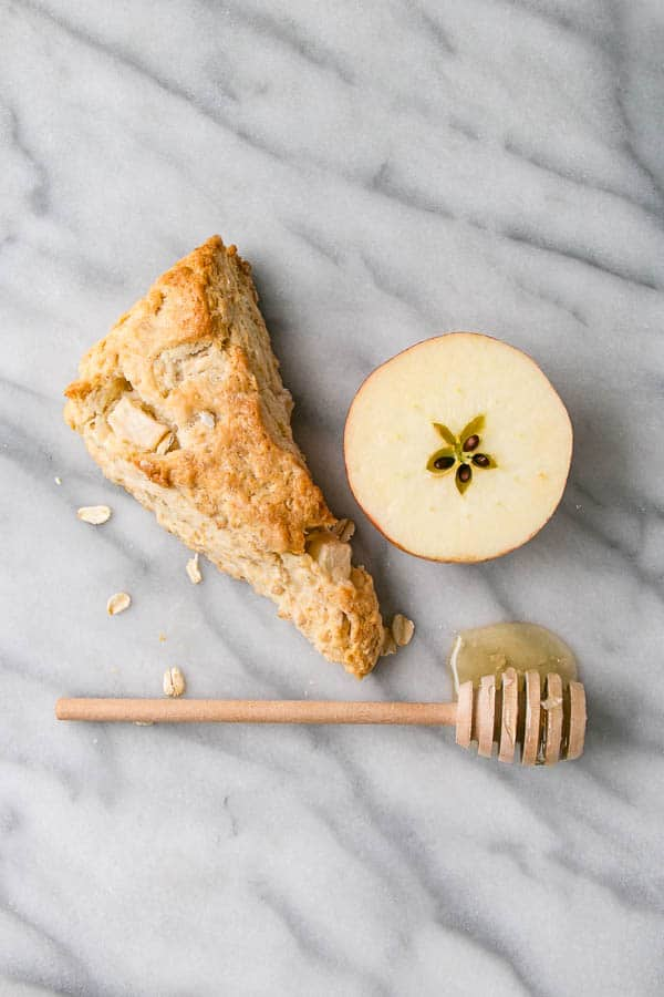Apple and Honey Oat Scones