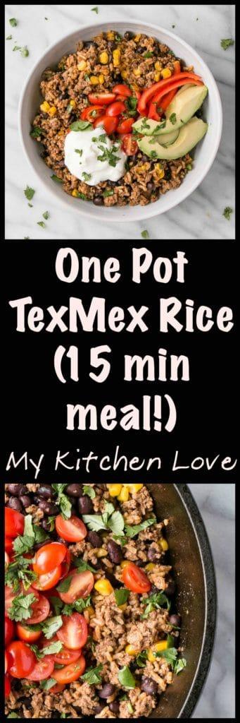 One Pot Tex-Mex Rice | My Kitchen Love #WeekdayWin