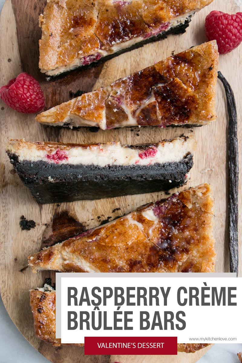 Raspberry Creme Brûlée Bars Short Pin