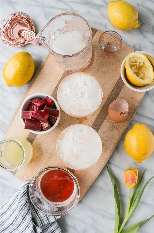Rhubarb Pisco Sour | My Kitchen Love