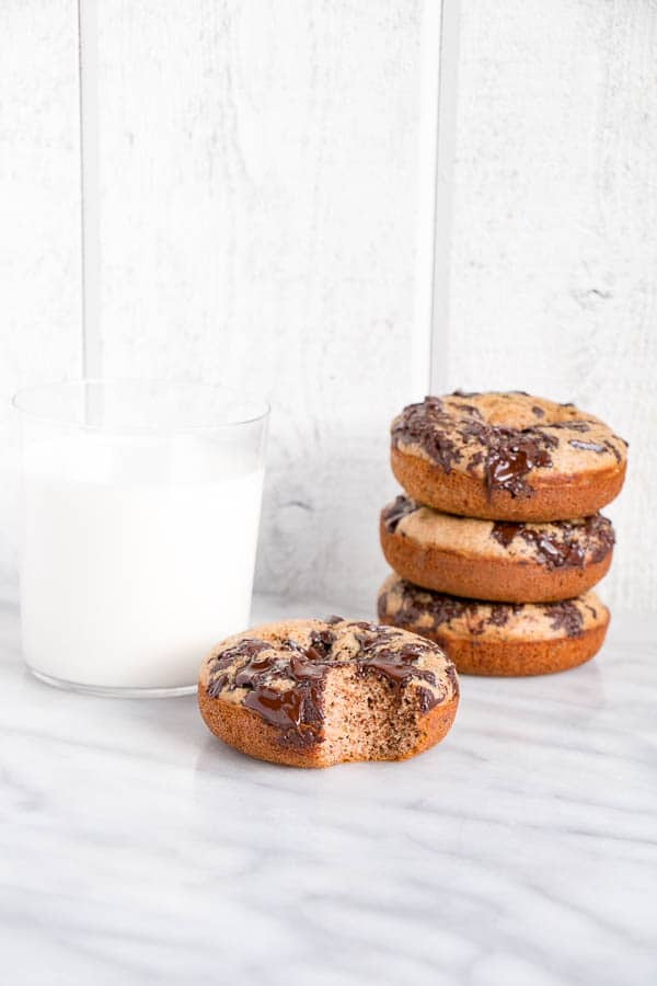 Banana Chocolate Buckwheat Donuts | My Kitchen Love (.com)