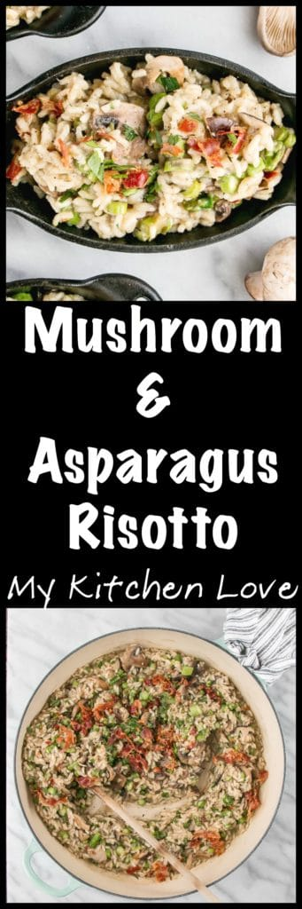 Mushroom and Asparagus Risotto | My Kitchen Love