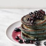 Sneaky Spinach Blueberry Pancakes