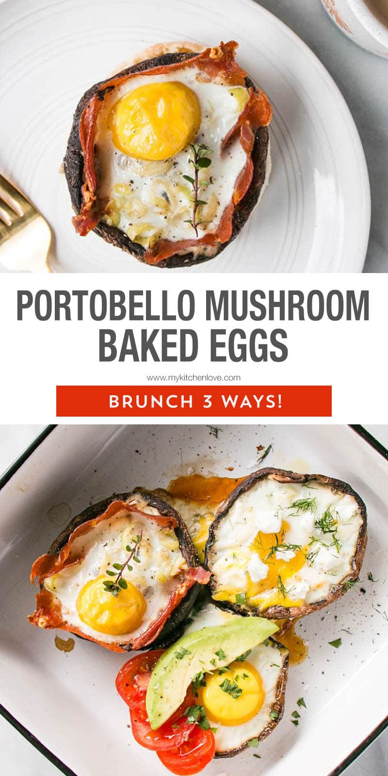 Portobello Mushroom Baked Eggs Tall Pin