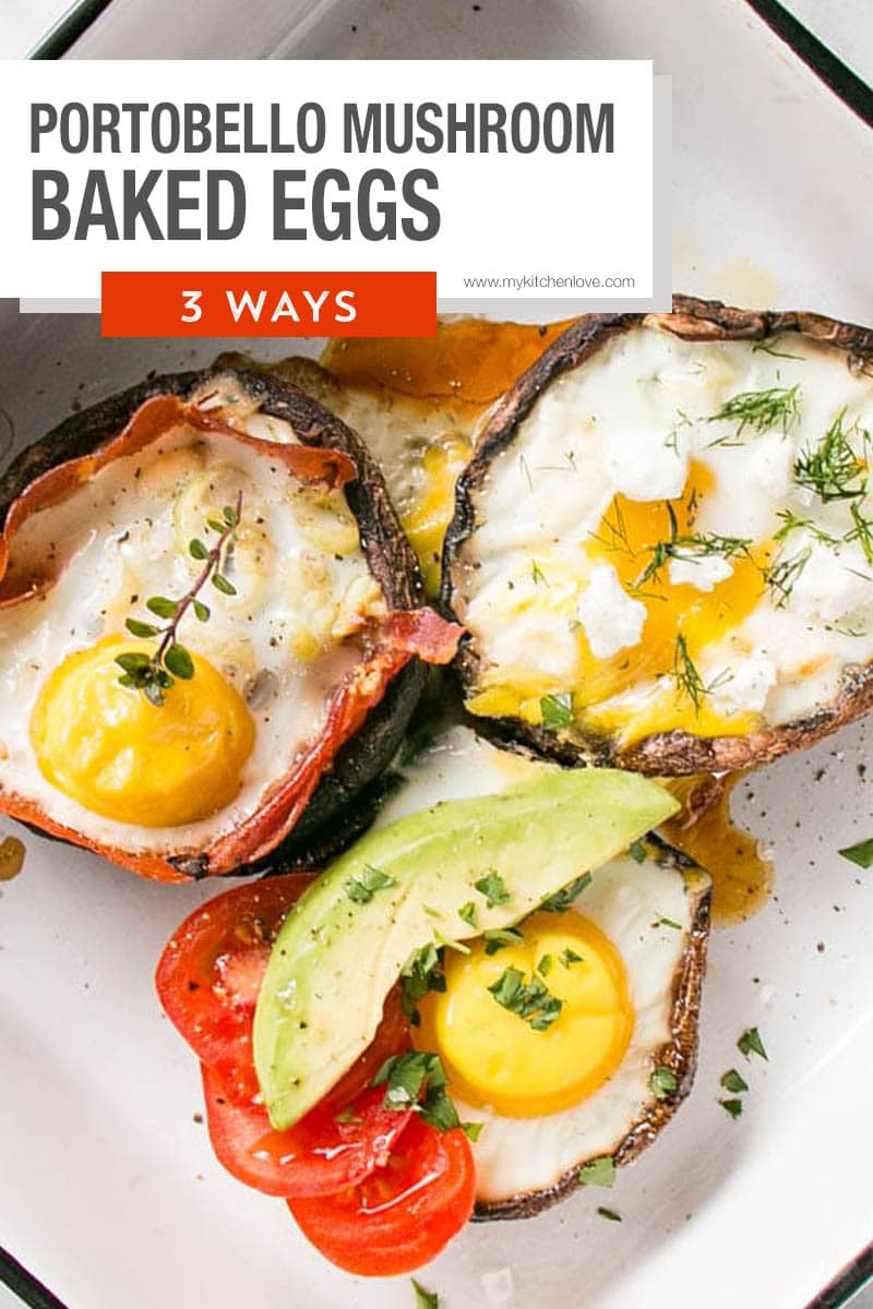 Portobello Mushroom Baked Eggs Short Pin
