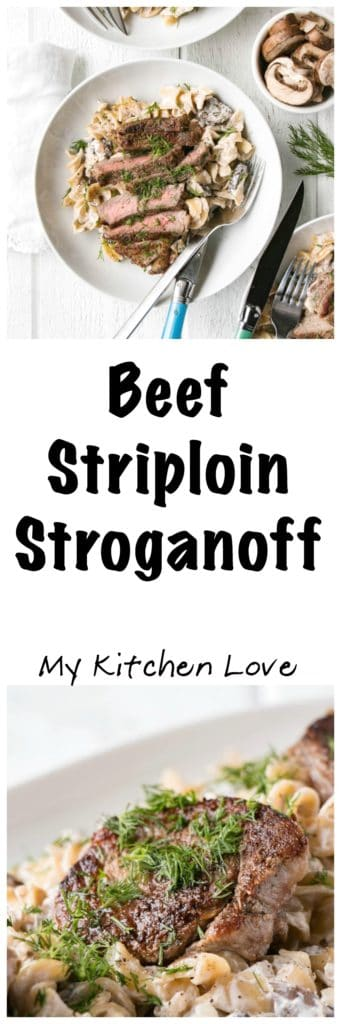 Long pin of Beef Striploin Stroganoff