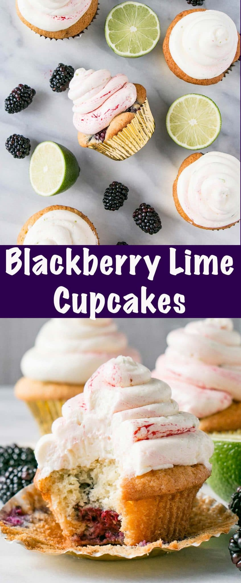 Blackberry Lime Cupcakes Long Pin