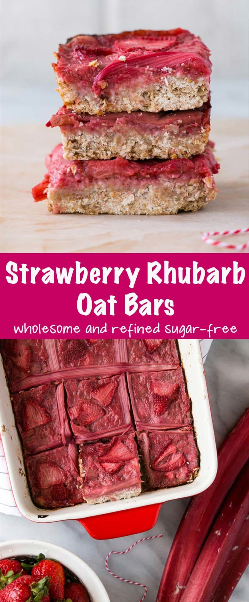 Strawberry Rhubarb Bars Long Pin