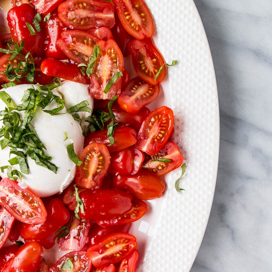 The Perfect Simple Tomato Salad