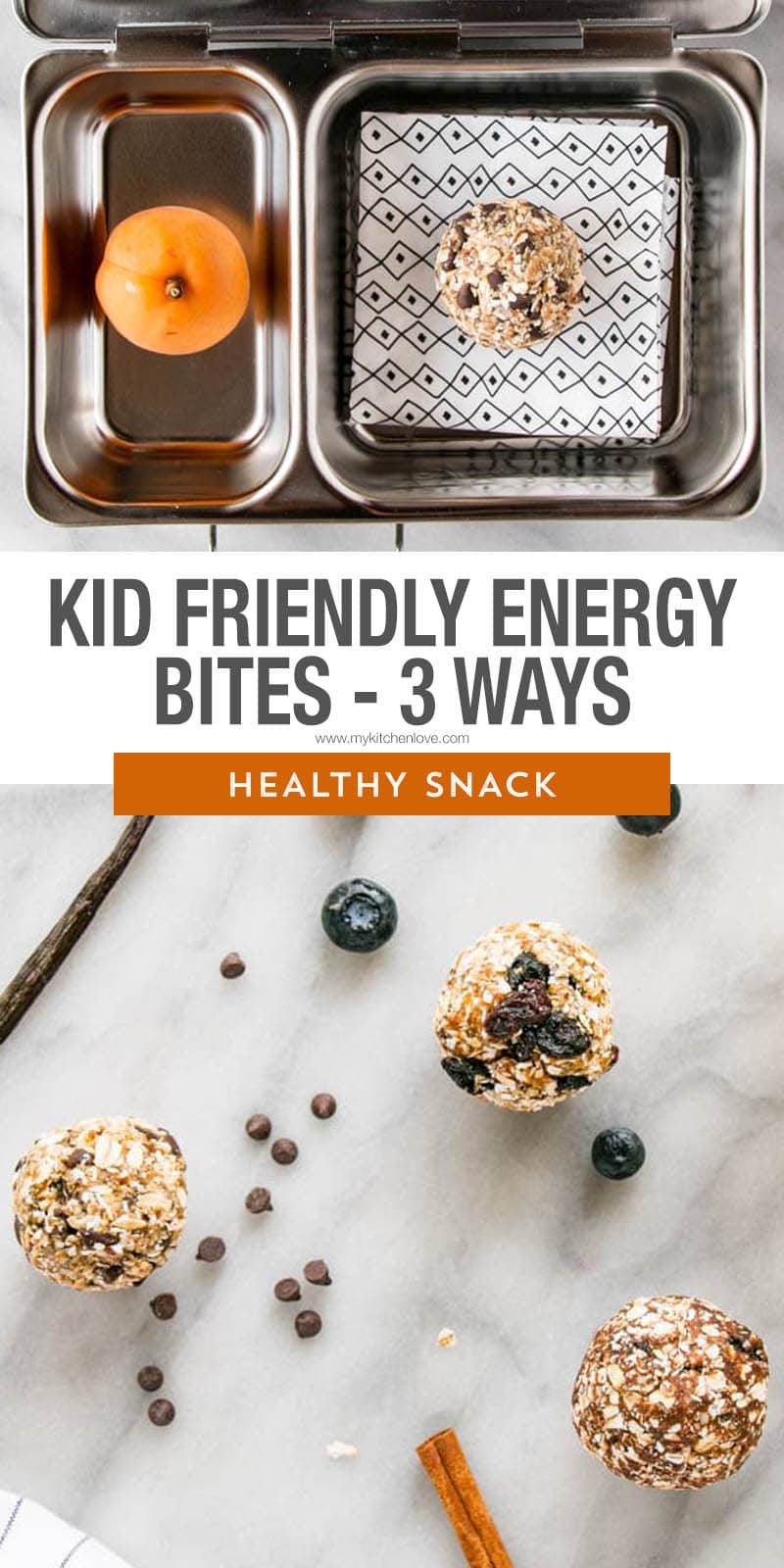 5 new and fresh ideas for nut-free and healthy options for kids! Kid-Friendly Oat Bites are perfect for Back-to-School and are freezer friendly meaning they can go the distance. These healthy snacks for kids aren't to be missed! via @mykitchenlove