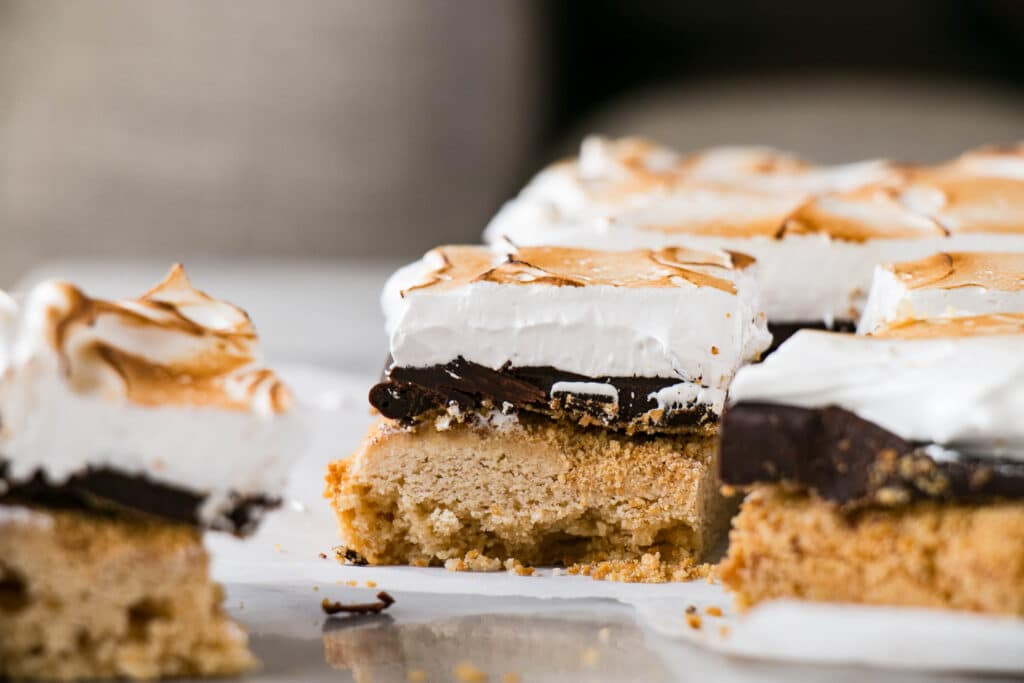 S'mores Blondies | Camping Firsts