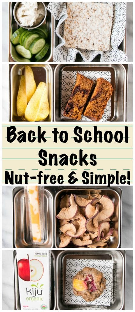 Back to School Snacks featuring a Pumpkin Chocolate Swirl Loaf
