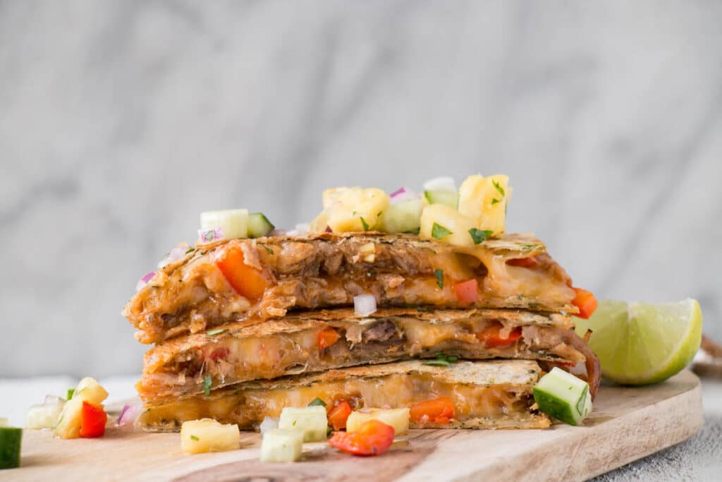 5 Ingredient BBQ Pulled Pork Quesadillas