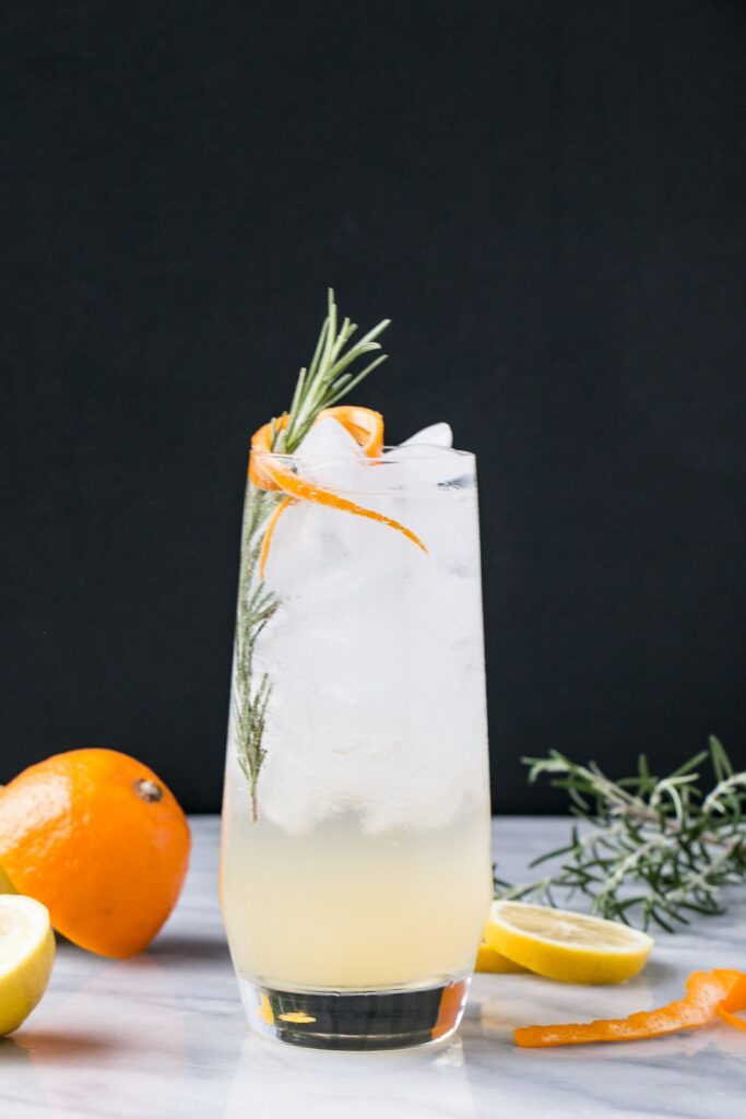 Meyer Lemon and Rosemary Tom Collins is a refreshing seasonal recipe that has a hint of rosemary and the bright taste of Meyer Lemon.