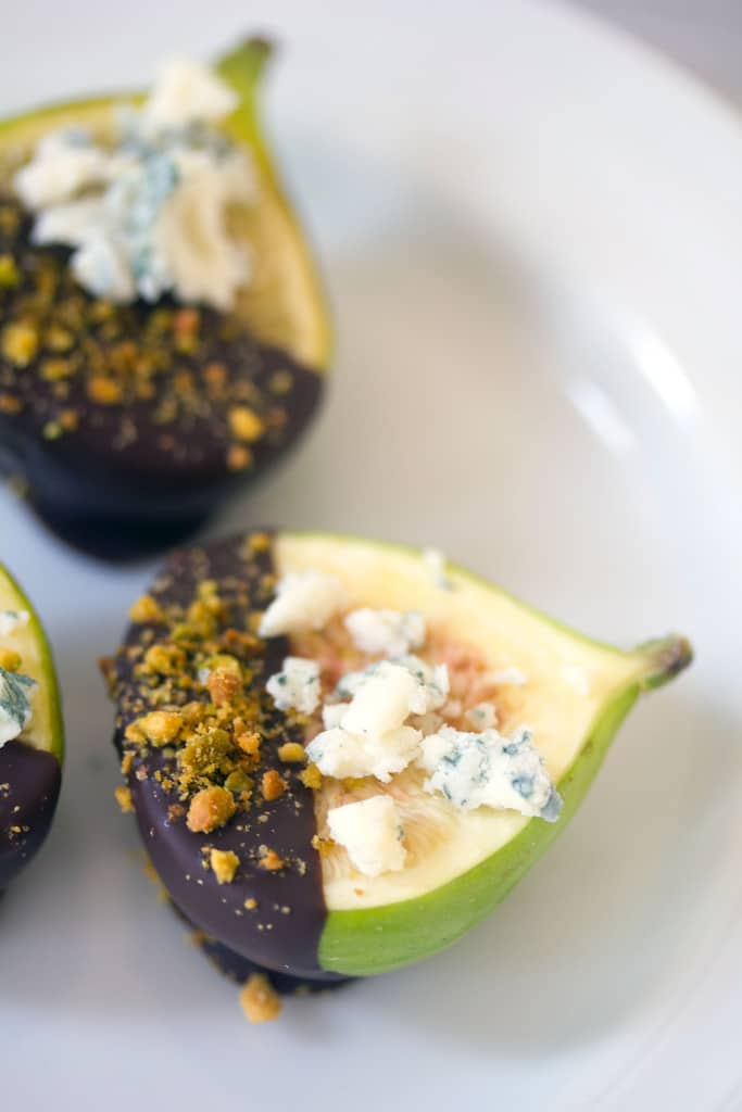 Chocolate Dipped Figs for one of the 10 Best Make Ahead Holiday Appetizers #holidays #appetizer #partyfood