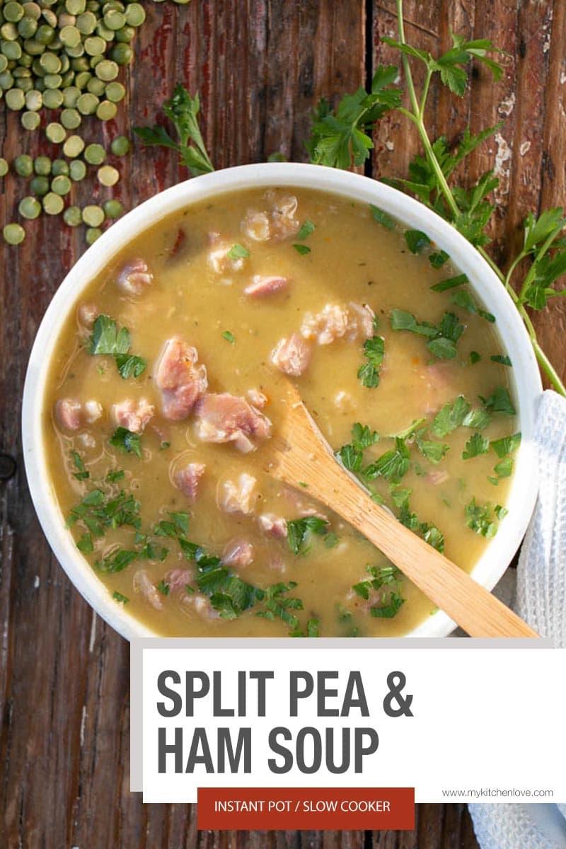 Instant Pot Split Pea and Ham Short Pin