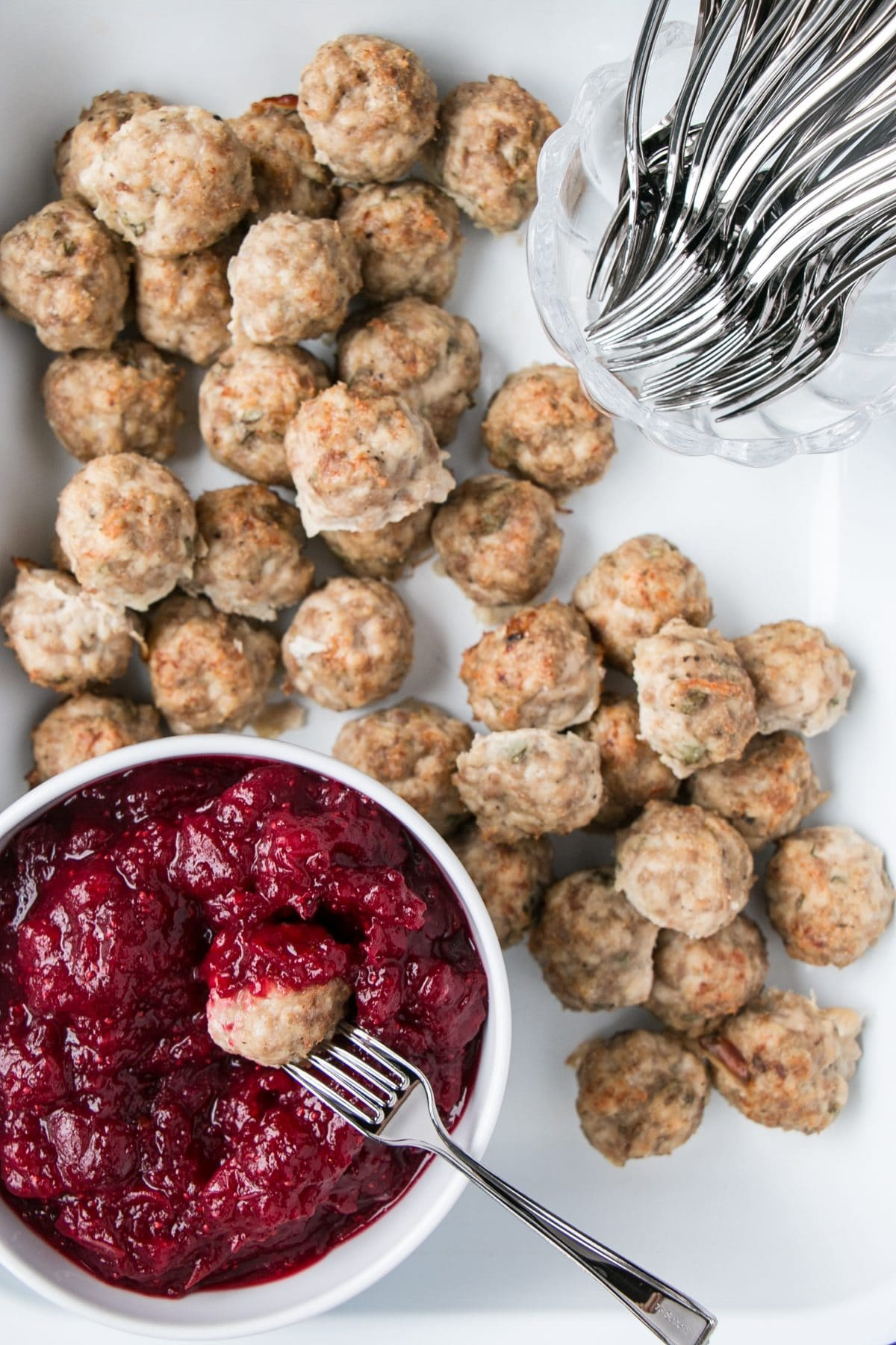 Mini Turkey Meatballs with Cranberry Dip for one of the 10 Best Make Ahead Holiday Appetizers