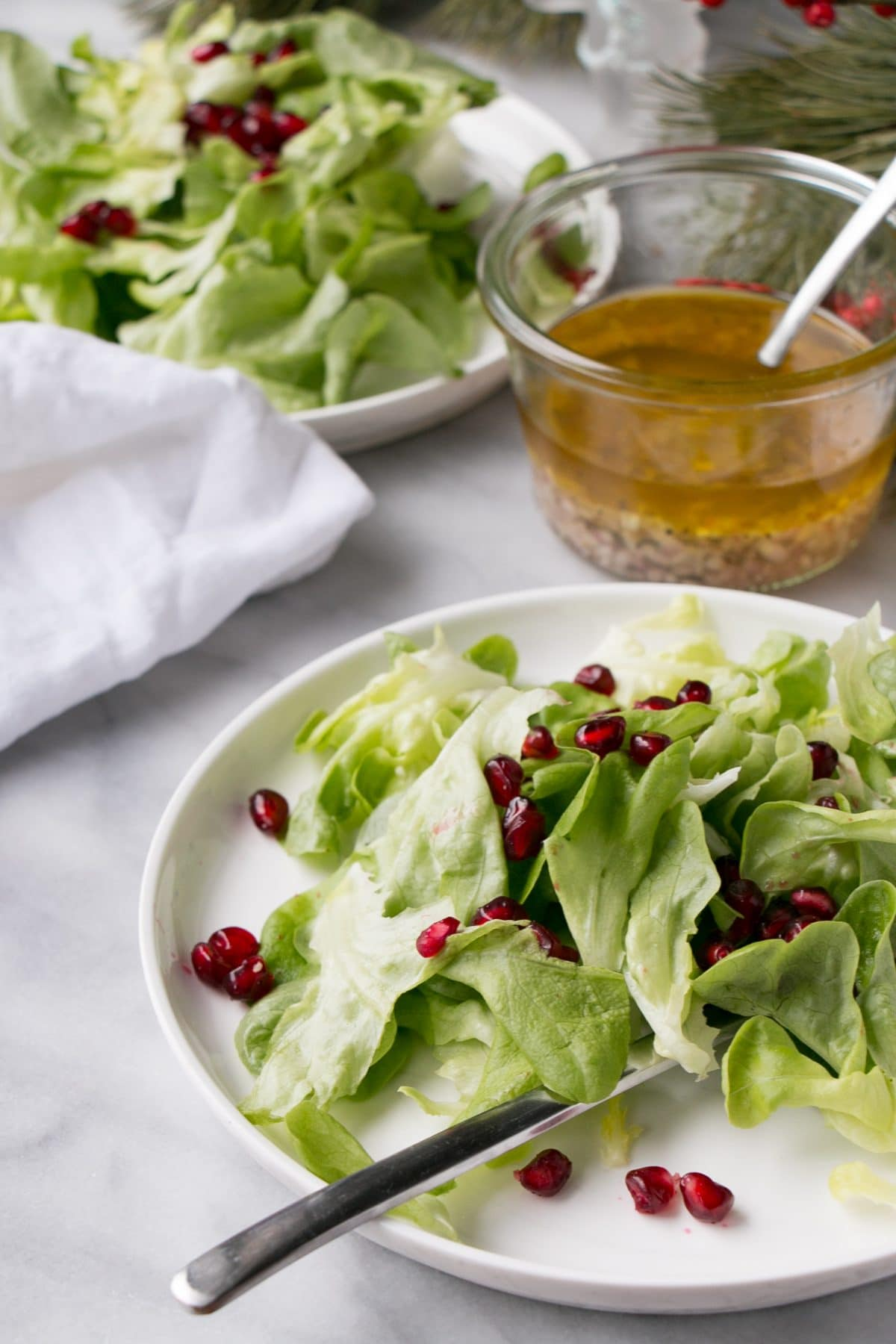 5 ingredient christmas salad for al the potlucks and a little good health during the holidays