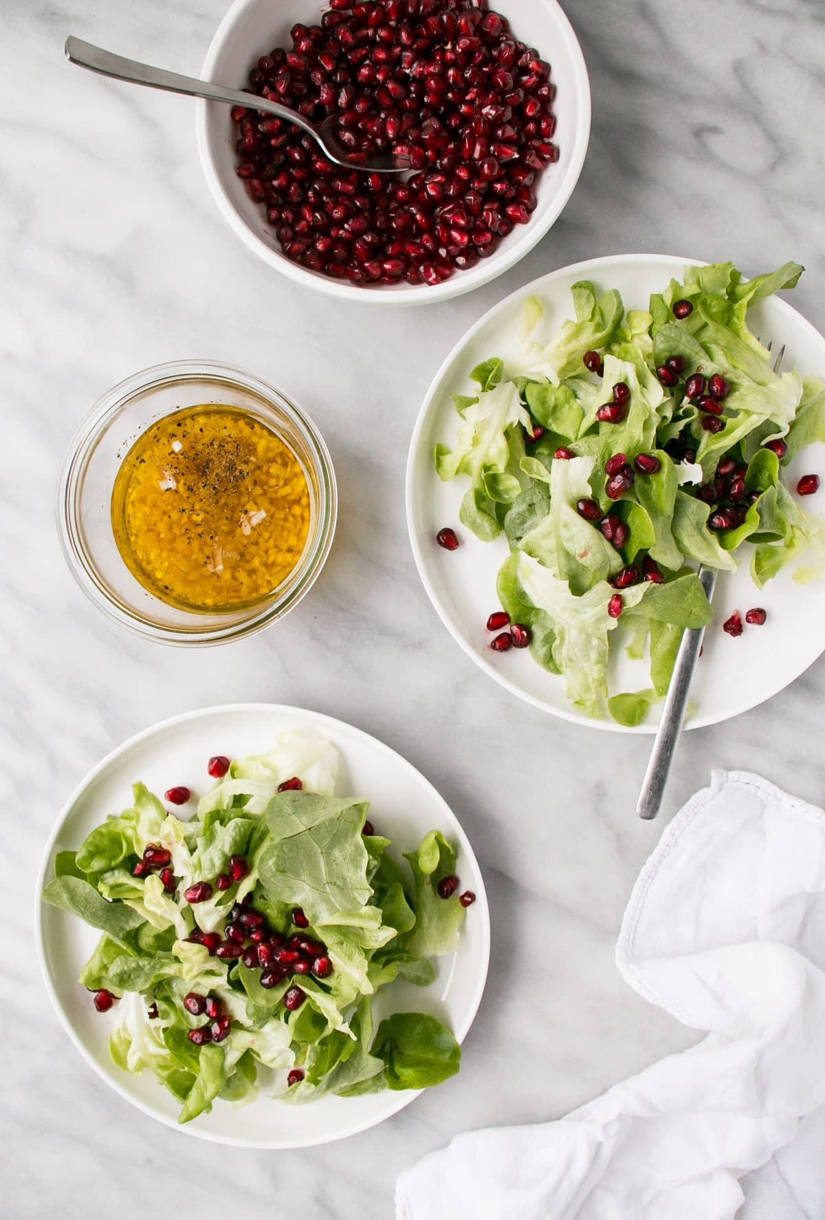 5 Ingredient Christmas Salad for al the potlucks and a little good health during the holidays. Simple, delicious, and a family favourite. #salad #christmas