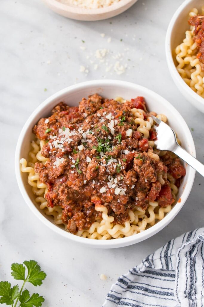 Weekday Ragù with Veggies
